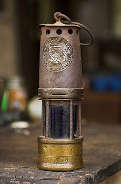Antique PERFECTION LAMP CO. Brass Coal Mining Lantern Gold Mine ...
