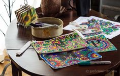 Adult Coloring Pages on Muslin Bags via @gardenmatter