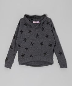 Take a look at this Gray & Black Star Hoodie by Vintage Havana on #zulily today!