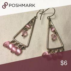 Pink Chandelier Earrings Cute & in good condition Jewelry Earrings