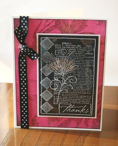 fuschia thanks (clear challenge) by Tami Hartley, via Flickr