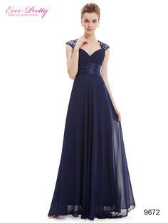 0158cef40 Elegante Vestido De Gala Con Cola Azul Noche Moda Pasion -   2.699