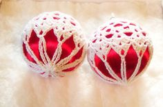 Free Crochet Pattern Christmas Ball Covers : Best ideas about Crochet Bez, Freechristmas Chrochet and . Crochet Ball, Crochet Hook Set, Thread Crochet, Crochet Crafts, Yarn Crafts, Crochet Projects, Free Crochet, Christmas Tree Pattern, Crochet Christmas Ornaments