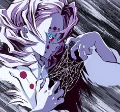 Demon Slayer: Rui 💜 shared by White on We Heart It Demon Slayer, Slayer Anime, Hxh Characters, Anime Films, Manga Games, Anime Demon, Me Me Me Anime, Spider, Otaku