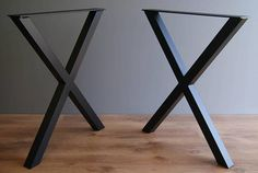 """X table legs 28 """" cm ) steel table legs, kitchen table legs, dinning table legs, powder coated (SET OF Steel Table Legs, Coffee Table Legs, Industrial Metal Table Legs, Kitchen Table Legs, Tree Stump Table, Table Haute, Cleaning Wood, Wood Countertops, Assemblage"""
