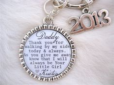 FATHER of the BRIDE Mens Grandpa Daddy's Little Girl White Bottle cap Pendant  Keychain, Wedding Party Bridal Groomsmen gift mens Fathers on Etsy, $16.50