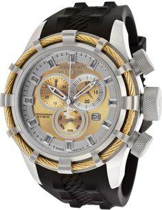 Men's Chronograph Black Silicone Swiss Watch
