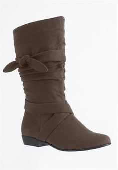 Plus Size Heather wide calf scrunch boot image