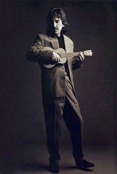 George Harrison with ukulele