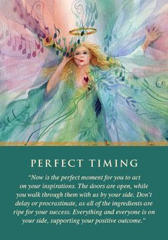 Oracle Card Perfect Timing | Doreen Virtue | official Angel Therapy Web site 1-7-14