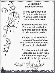 Poesia A Estrela - Manoel Bandeira