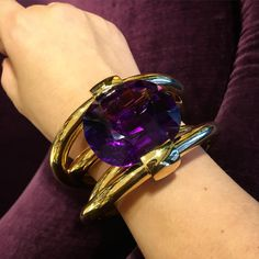 Just arrived from the workshop, in Suzanne's favorite hue #amethyst #statementjewelry #mystyleismysignature