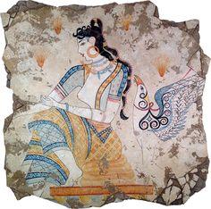"The called ""Saffron Goddess"" from Santorini"