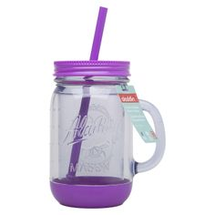 Aladdin Mason Jar Travel Mug with Handle - Grape... : Target