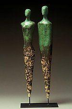 "Balance by Cathy Broski (Ceramic Sculpture) (25"" x 8"")"