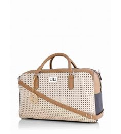 White And Brown Polyurethane Office Bag