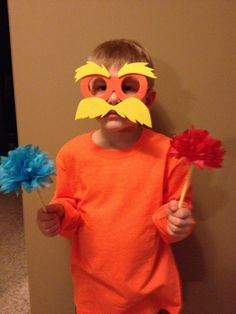 Created this very easy Lorax costume for Dr seuss day at school. Used the tutorial found at http://www.annakoriginals.com/the-lorax-costume/#comment-2299