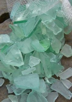 """this is NOT genuine sea glass! these are still sharp shards of machine tumbled """"craft glass"""". surf tumbled sea glass is not like this! Shades Of Turquoise, Shades Of Green, Sea Glass Colors, Water Colors, Celadon, Sea Glass Beach, Vase Fillers, Sea Glass Jewelry, Sea Foam"""