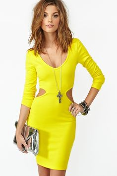 Blaze Cutout Dress in Yellow  Me like!