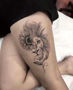 Mommy Tattoos, Leo Tattoos, Dope Tattoos, Body Art Tattoos, Sleeve Tattoos, Small Tattoos, Tatoos, Lioness Tattoo, Lion Woman Tattoo