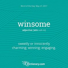 winsome -- One may be winsome by getting along with the other person they are talking to.