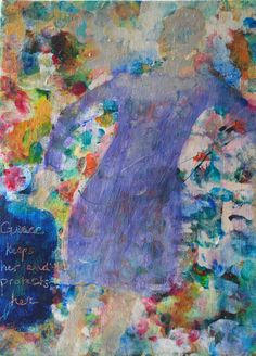 """For Sale 16"""" X 12""""  """"Grace Keeps Her""""   by Lisa Doffing  Acrylic Painting on canvas Framed in wood"""