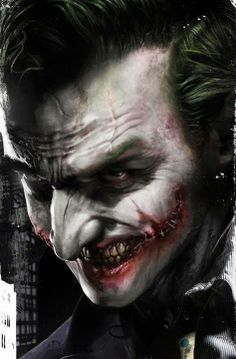 Very, very cool Joker art. #art #joker