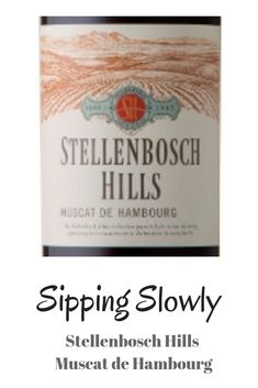 New Sipping Slowly episode out. We try the new Stellenbosch Hills Muscat de Hambourg and it is refreshing and sweet. It is going to make a wonderful Mothers Day gift. Sweet Wine, Muscat, Whisky, Mothers, Make It Yourself, Gift, Hamburg, Whiskey, Gifts