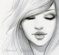 eyes closed woman ilustration ilustração