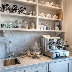 1000 images about coffee bar on pinterest coffee bar for Countertop coffee bar ideas