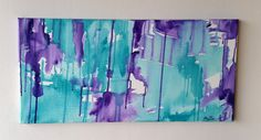Abstract Canvas Art  Hand Painted by LouiseMaryRyanArt on Etsy