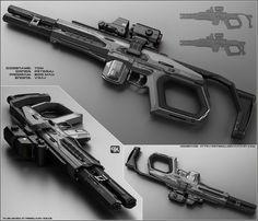 TOM - Concept of futuristic shotgun by peterku.deviantart.com on @DeviantArt