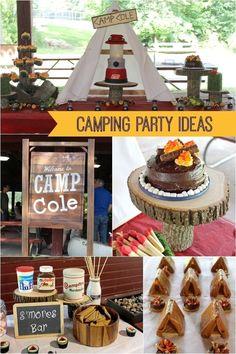 camping birthday party ideas www.spaceshipsandlaserbeams.com