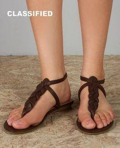 braided loop thong sandals