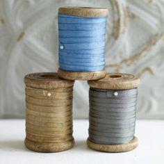 Spools of ribbon.