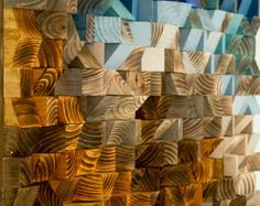 Mosaic Wood Art wood wall art geometric art by ArtGlamourSligo