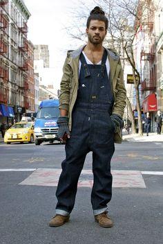 Denim Dungaree/Overall + White Tee + Jacket = Fashion Inspiration