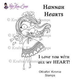 Hannah Hearts - $10.00 : Kraftin Kimmie Stamps