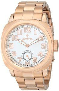 Invicta Womens 12069 Vintage Analog Display Japanese Quartz Rose Gold Watch