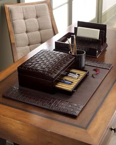 Woven Leather Desk Accessories At Neiman Marcus. $440.00 $110.00 Ideas