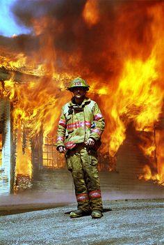 bumgar: a firefighter in repose.
