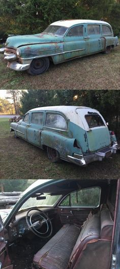 non running 1953 Cadillac Hearse project