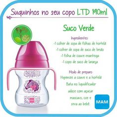Suco verde Project Life, Kids And Parenting, Baby Food Recipes, Juice, Maternity, Bottle, Baby Puree Recipes, Kids Menu, Children Health