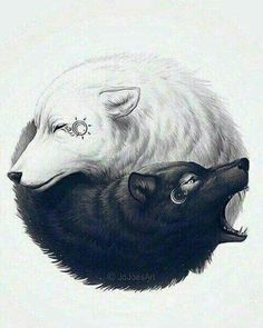 ▷ 1001 + Ideen für einen tollen Wolf Tattoo, die Ihnen sehr gut gefallen könnten un loup blanc et un noir embrassant une autre idée pour un grand tatouage de loup de tatouage Two Wolves Tattoo, Wolf Tattoo Back, Small Wolf Tattoo, Wolf Tattoo Sleeve, Tattoo Wolf, Wolf Tattoo Shoulder, Wolf And Moon Tattoo, Shoulder Sleeve Tattoos, Wolf Sleeve