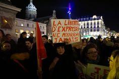Manifestation Place de Jaude mercredi 7 janvier 2015 #jesuischarlie