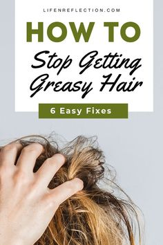 How to Stop Greasy Hair with Oily Hair Home Remedies How to Stop Greasy Hair with 8 unique hair remedies to try. Each work fast to get rid of greasy hair! Biotin For Hair Loss, Oil For Hair Loss, Hair Loss Shampoo, Biotin Hair, Oily Hair Shampoo, How To Shampoo Hair, Oily Hair Treatment, Natural Hair Loss Treatment, Hair Treatments