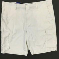 f87b2f5c1b Apt 9 Premier Flex Cargo Shorts Size 42 Beige Stretch Flat Front Comfort  Waist #Apt9