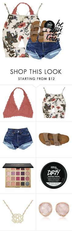 """""""stop looking for happiness in the same place you lost it"""" by ellaswiftie13 on Polyvore featuring Youmita, Love, Birkenstock, tarte, WALL and Monica Vinader"""
