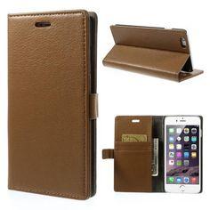 Köp Plånboksfodral Apple iPhone 6 Plus/6S Plus brun online: http://www.phonelife.se/planboksfodral-apple-iphone-6-plus-brun