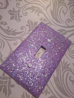 Lavender with Silver Holographic Opal & Light Purple Glitter /Bling Light Switch Plates, Outlet Covers, Rockers /Sparkly Custom Kawaii Décor by VampedByVivian on Etsy Purple Bedrooms, Teen Girl Bedrooms, Purple Bedroom Decor, Girls Purple Rooms, Master Bedrooms, Purple Room Decorations, Light Purple Rooms, Room Girls, Shared Bedrooms